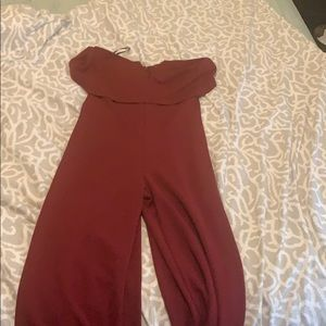 Wine Red Jumpsuit